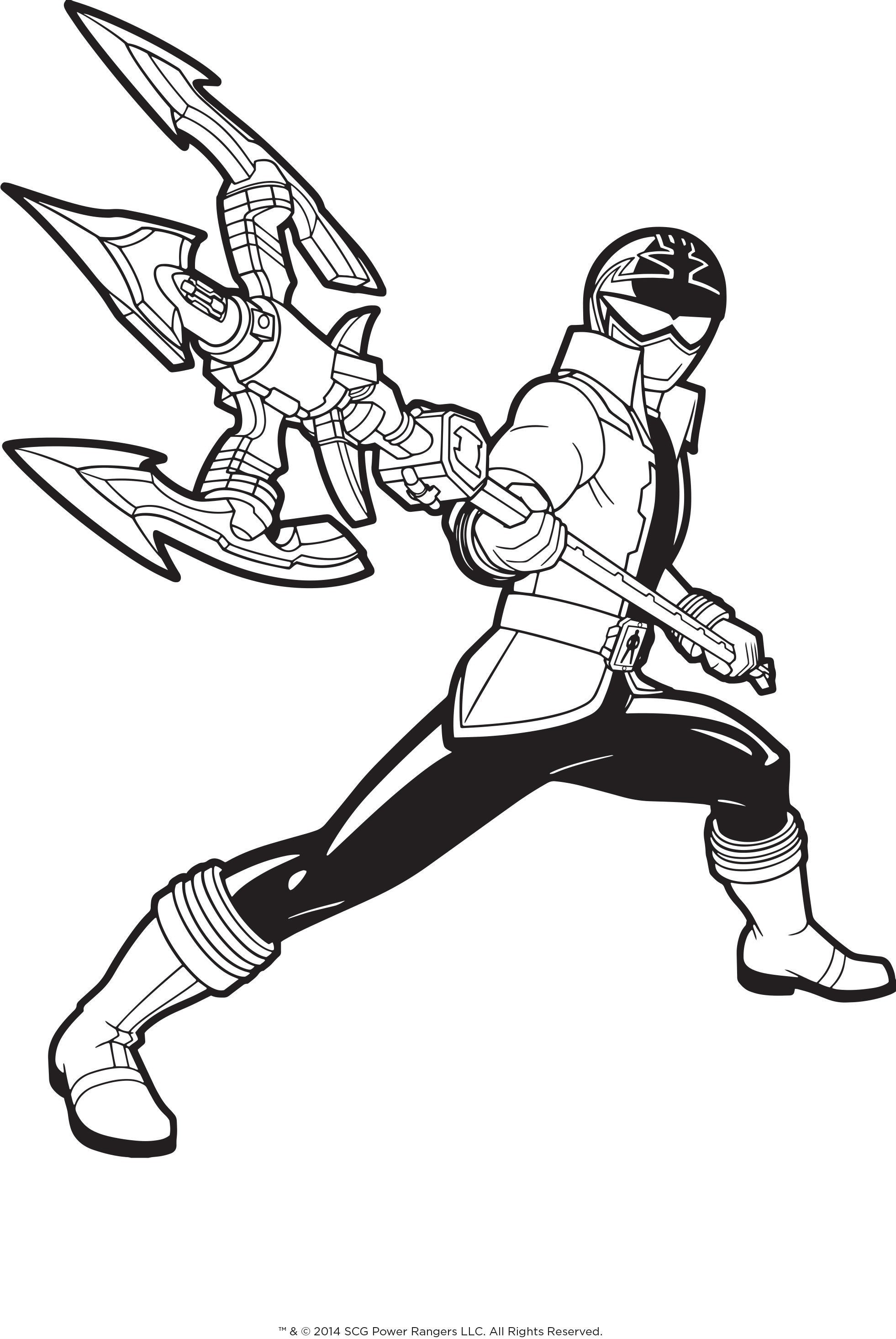 1962x2930 Amazing Power Rangers Samurai Coloring Page