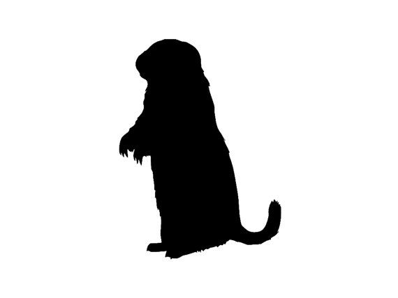 570x428 Prairie Dog Silhouette Custom Die Cut Vinyl Decal Sticker