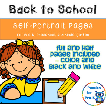 350x350 Self Portrait Pages For Pre K, Preschool, And Kindergarten