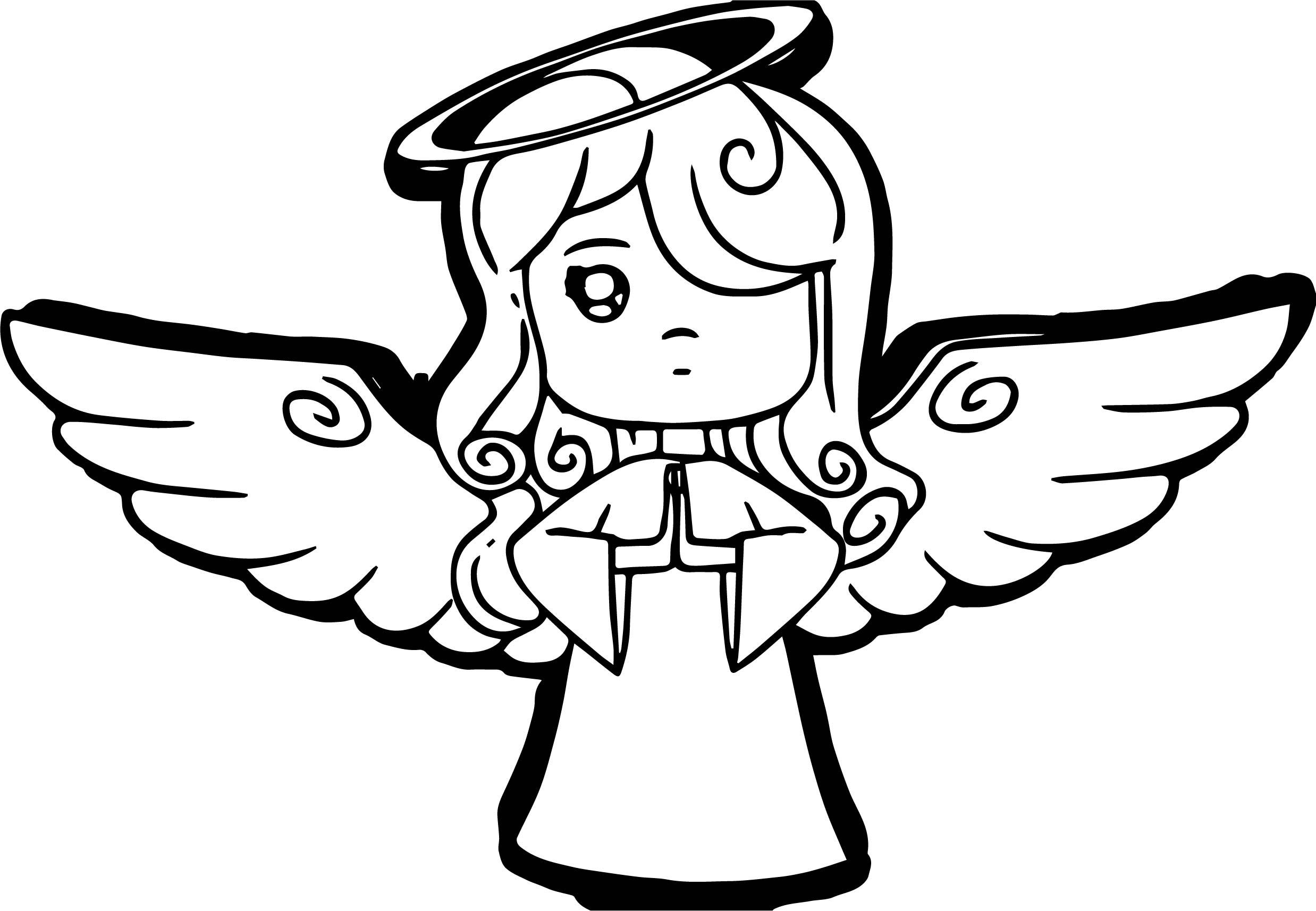 2476x1714 Blonde Angel Coloring