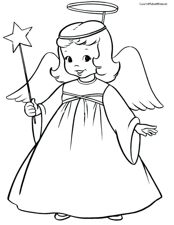 603x779 Free Angel Coloring Pages Printable As Colouring Color