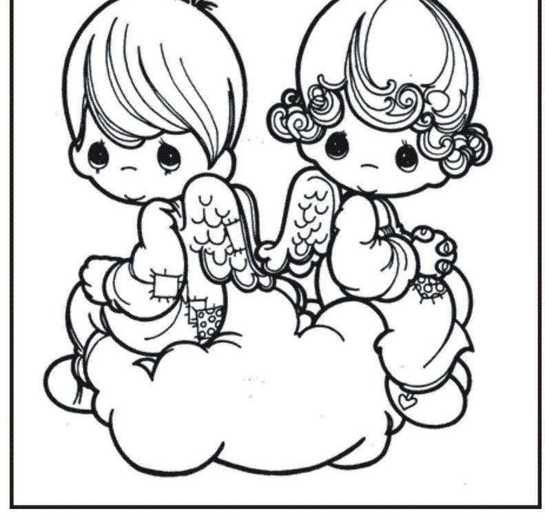 791x768 Imposing Precious Moments Birthday Coloring Pages