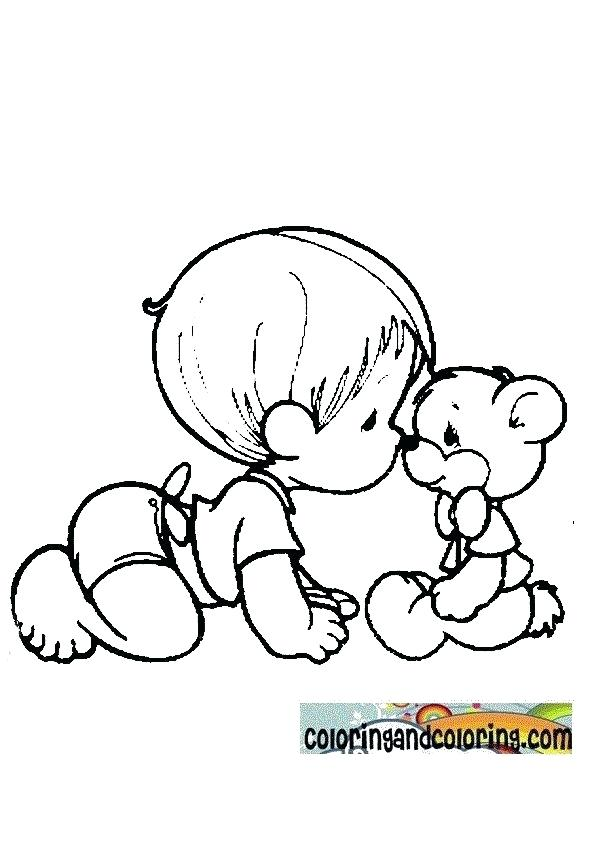595x842 Baby Girl Precious Moments Coloring Pages