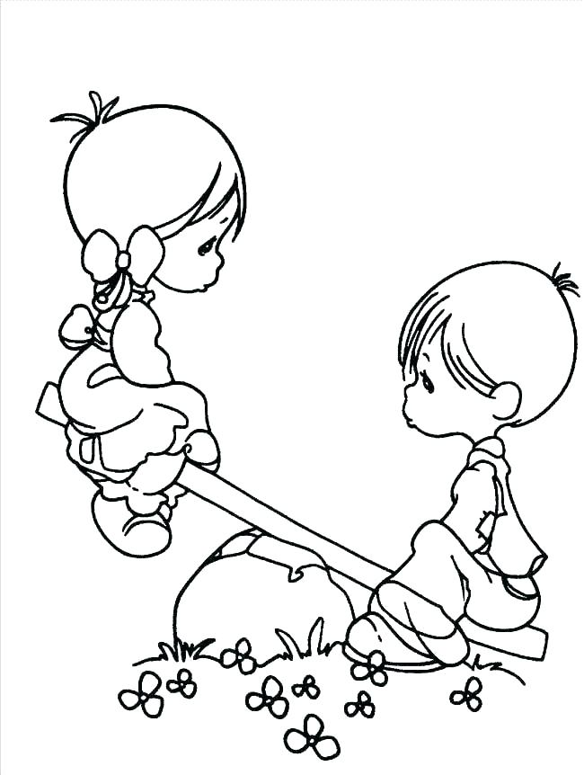 650x862 Free Printable Precious Moments Coloring Pages