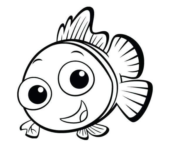 580x501 Simple Fish Drawing Simple Kid Preschool Coloring Pages Fish