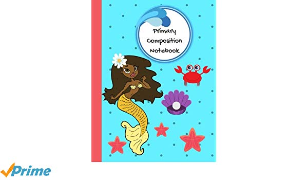 600x350 primary composition book mermaid notebook, primary composition