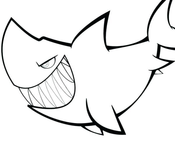 600x500 Shark Drawing Template Preschool Shark Paper Template Shark Fin