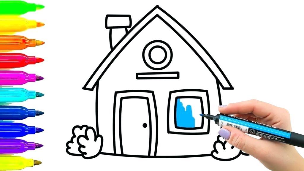 1024x576 Simple Kids Drawing Drawing Worksheet For Preschool Kids With Easy