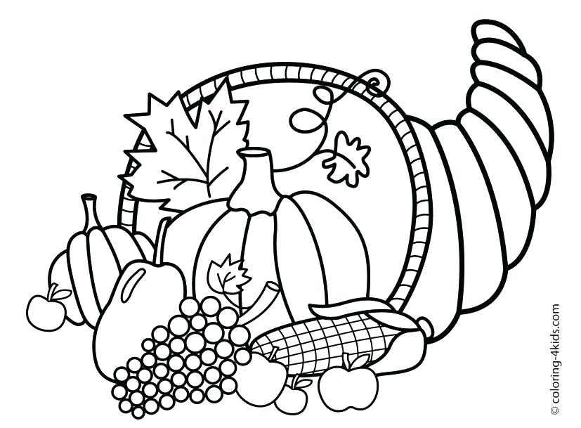 827x609 Thanksgiving Preschool Coloring Pages Children Books Toddler