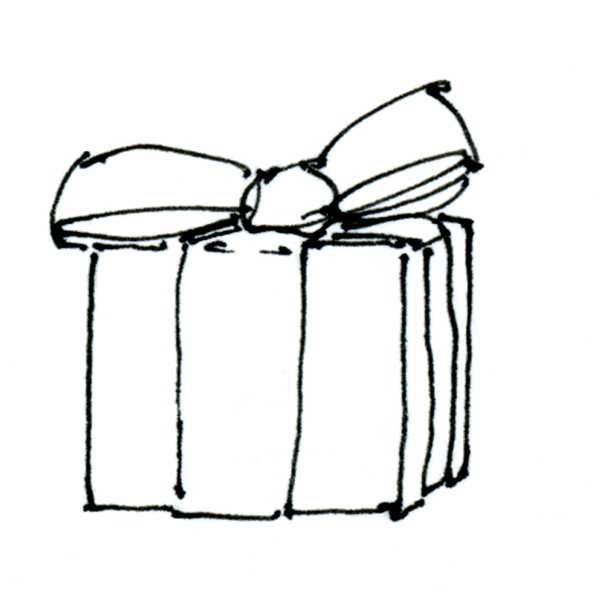 Present Box Drawing