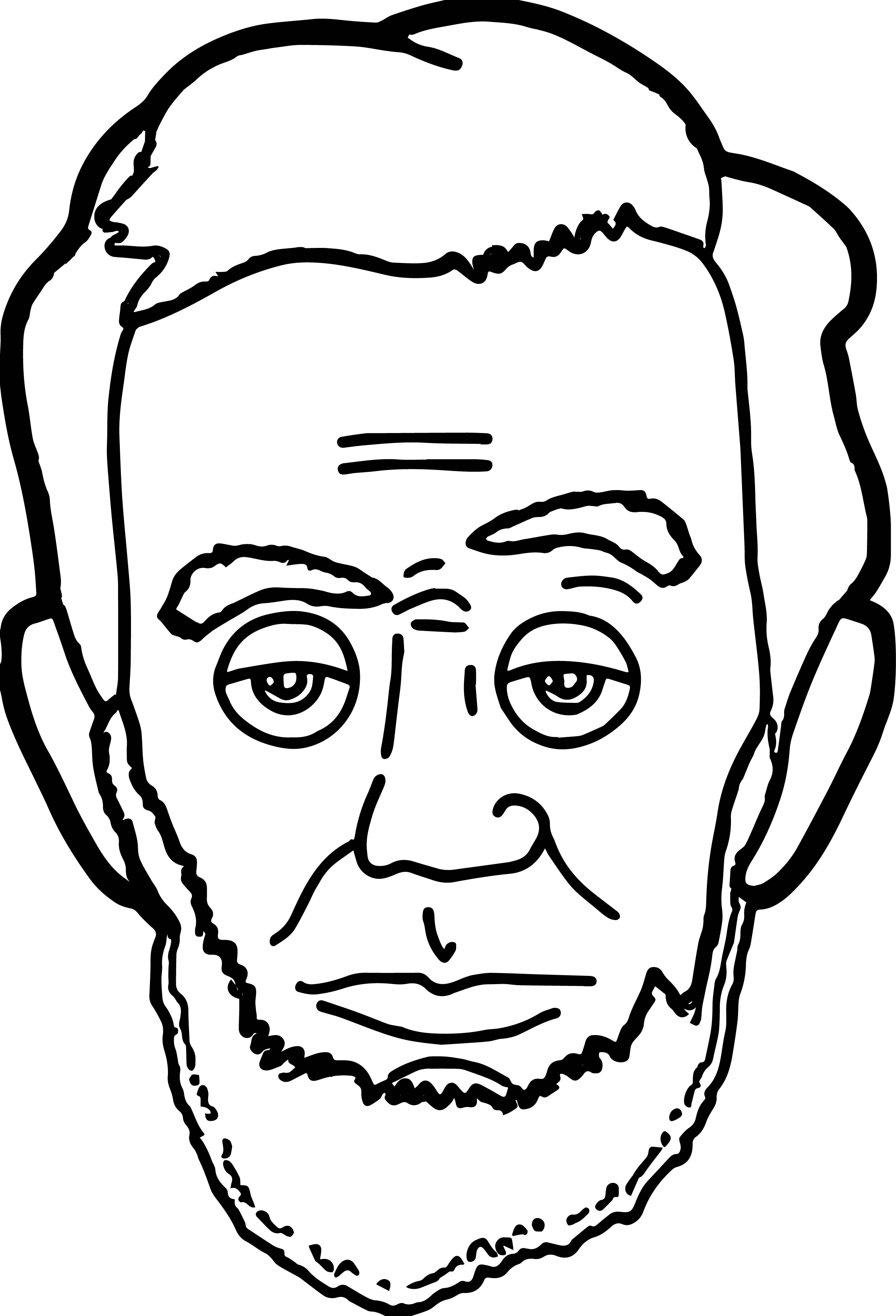 2497x3668 President Drawing Outline For Free Download
