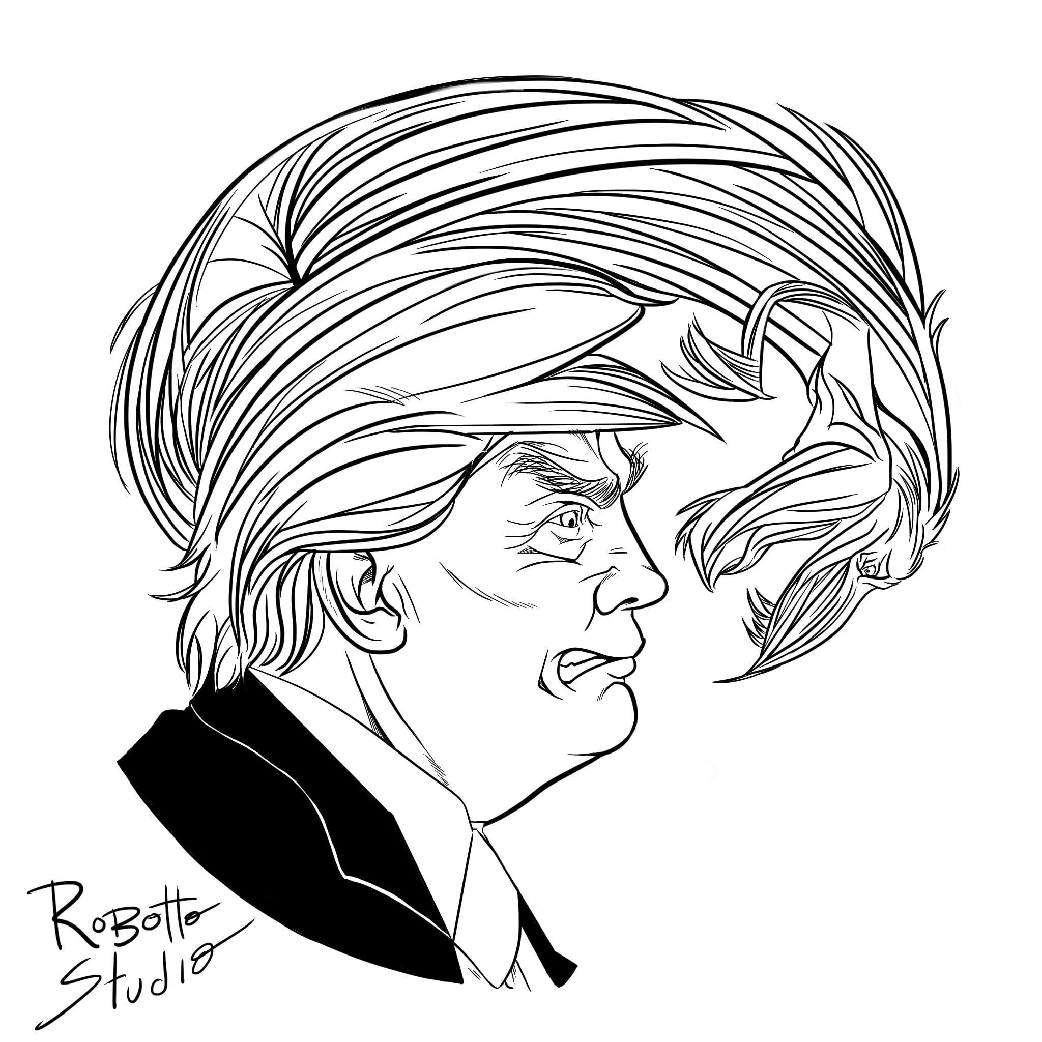 2048x2048 Draw President Donald Trump