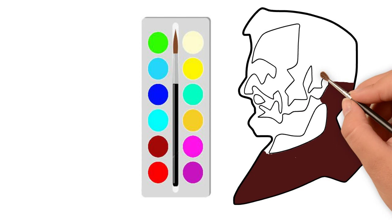 1280x720 How To Draw And Color Mr Abraham Linkon Face Easily Former