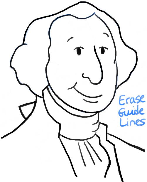 501x620 How To Draw Cartoon George Washington With Simple Step