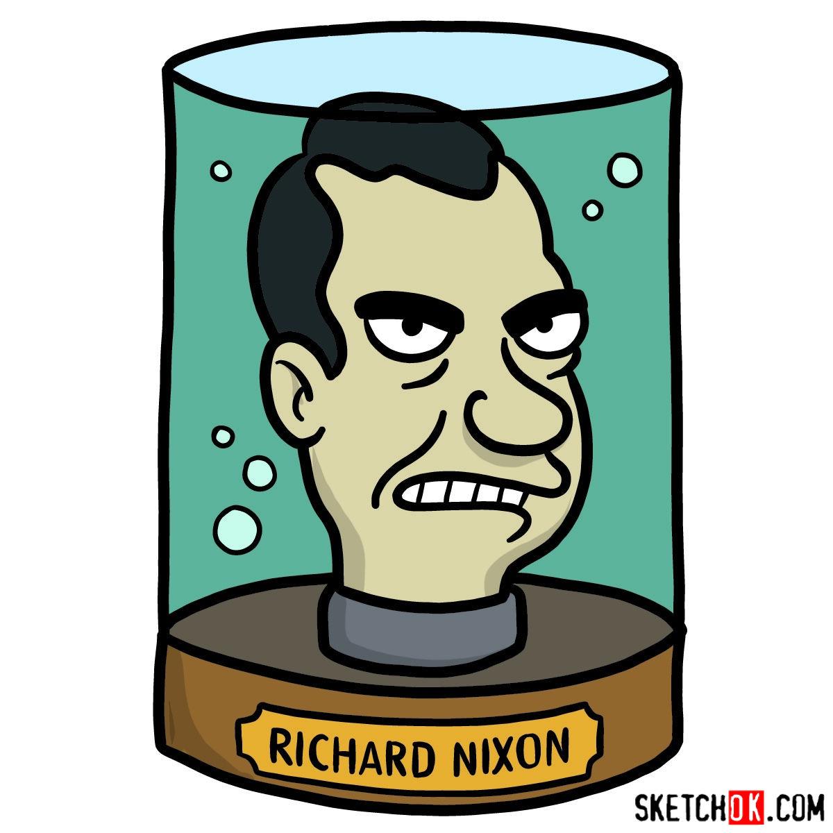 1200x1200 How To Draw President Nixon's Head