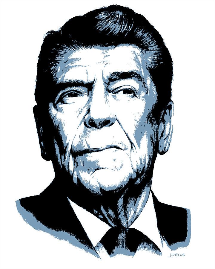 720x900 President Reagan Drawing