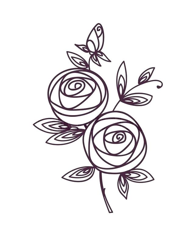 640x800 flower drawing outline drawn flower likes pretty flower drawings