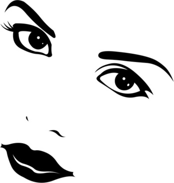 349x368 Girl Face Vector Free Vector Download