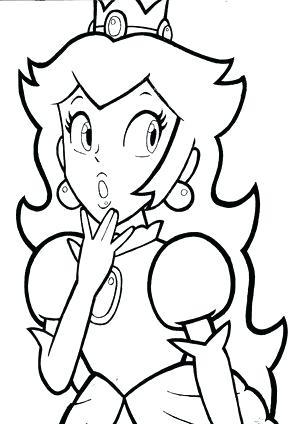 300x424 Draw Princess Peach Art