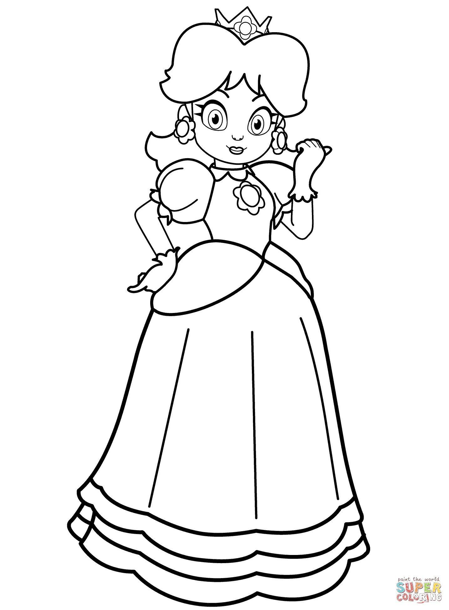 1435x1951 Princess Daisy Coloring