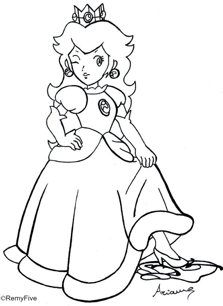 763x1048 Princess Daisy Coloring Pages To Print