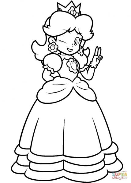 428x600 Princess Daisy Coloring Sheets