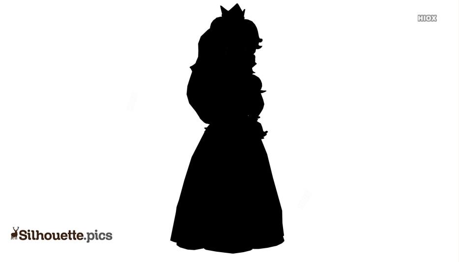 934x534 Princess Daisy Silhouette Drawing Silhouette Pics