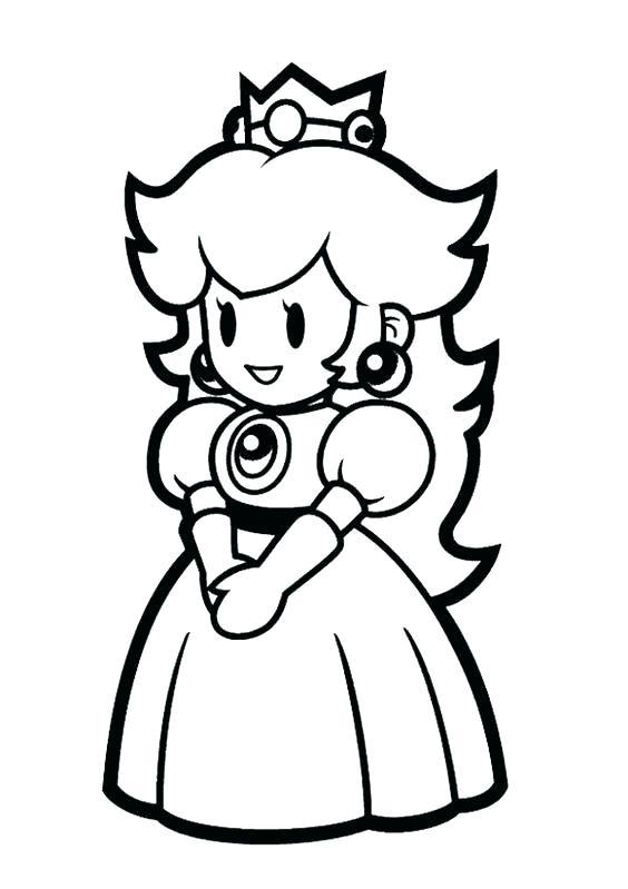 564x799 Princess Rosalina Coloring Pages Free Download Peach And Daisy