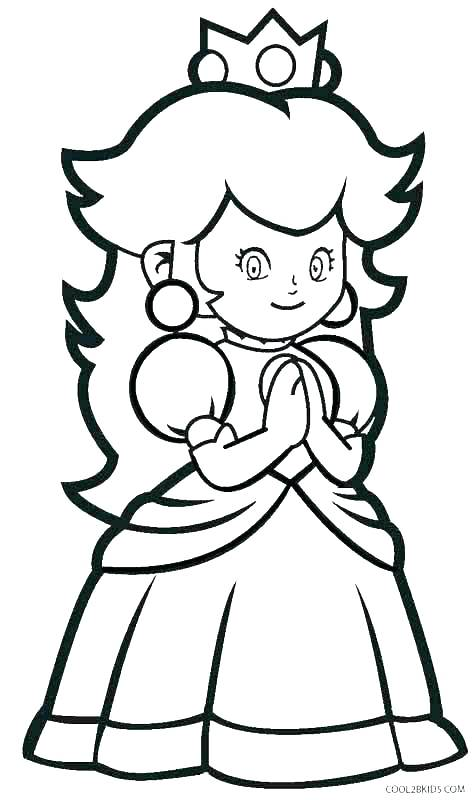 474x800 Princess Daisy Coloring Pages
