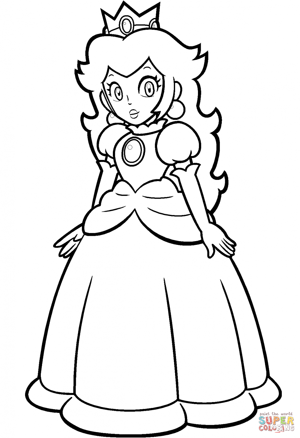 970x1415 Baby Princess Daisy Coloring Pages Color Bros