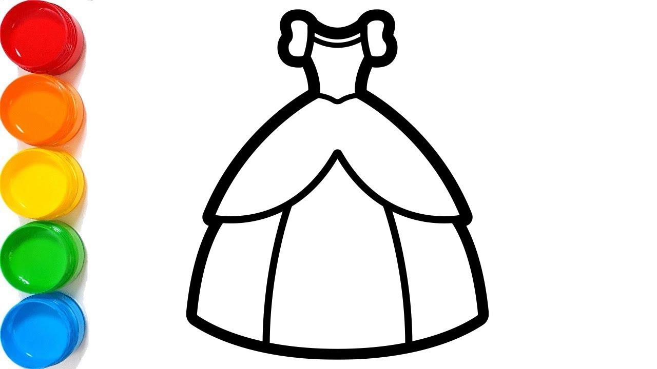 1280x720 Coloring Princess Dress