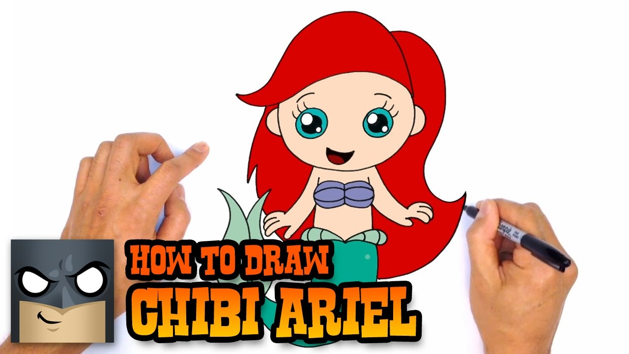 1280x720 How To Draw Ariel The Little Mermaid