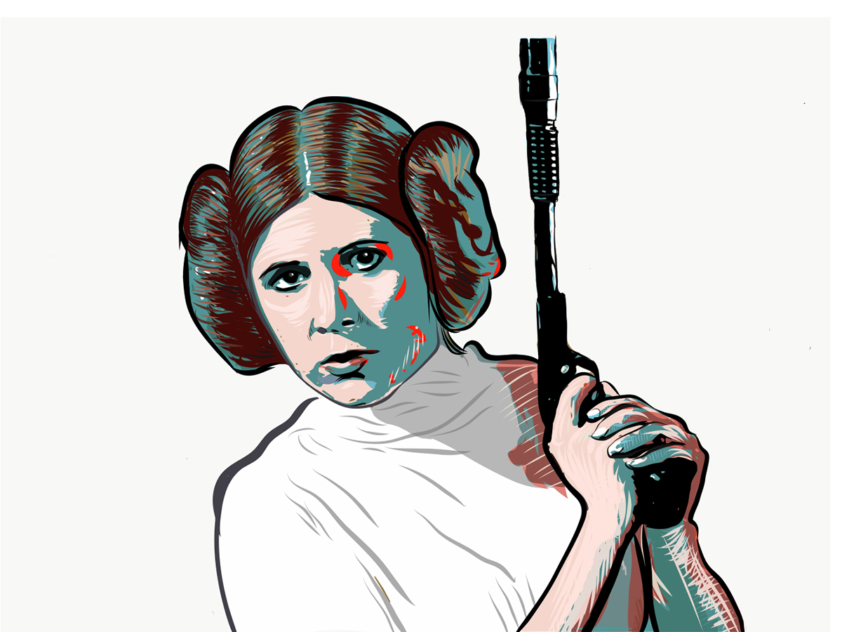 1200x900 carrie fisher as princess leia on behance