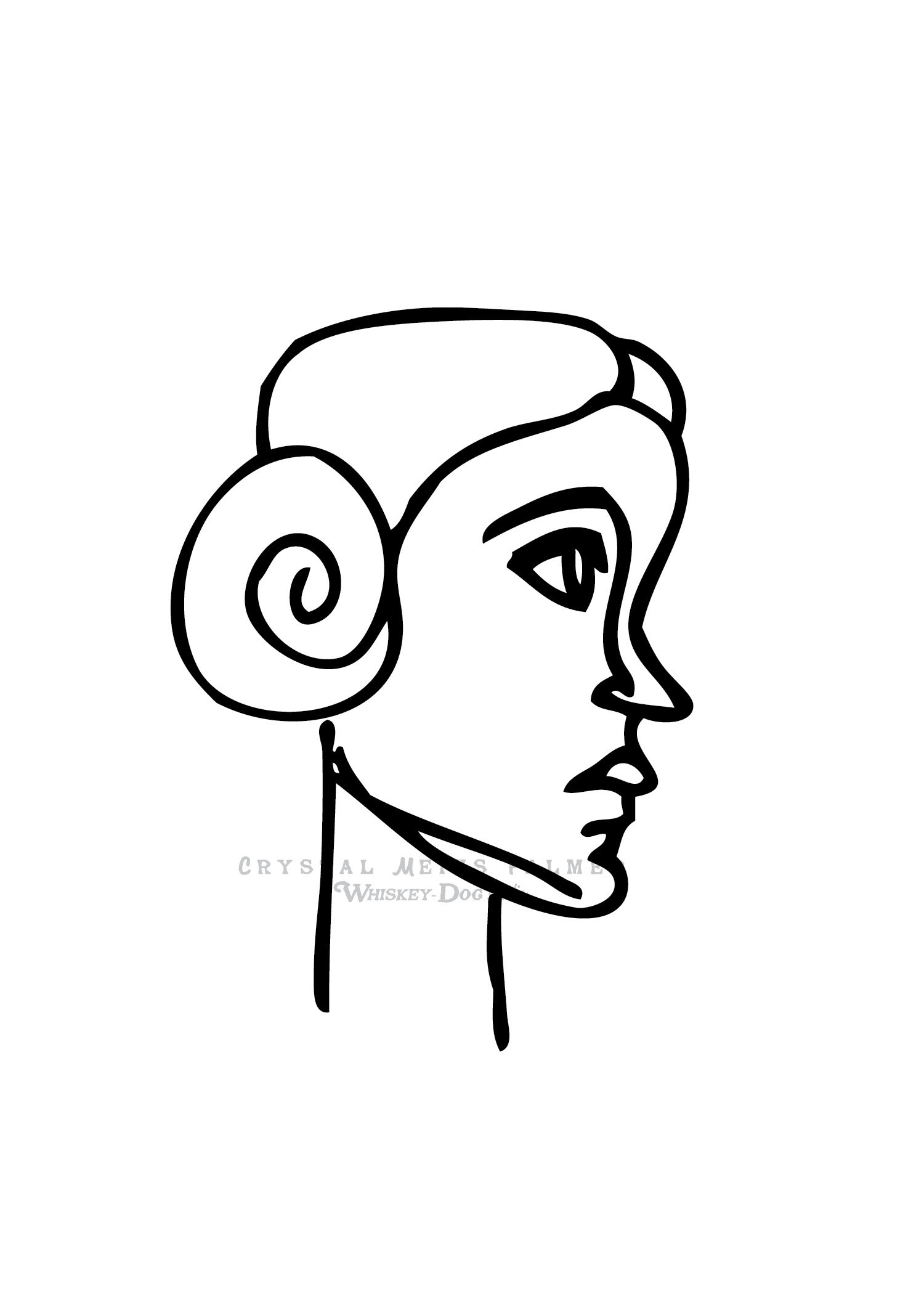 1500x2100 Princess Leia Star Wars Ink Pen Drawing Inch Art Print Etsy