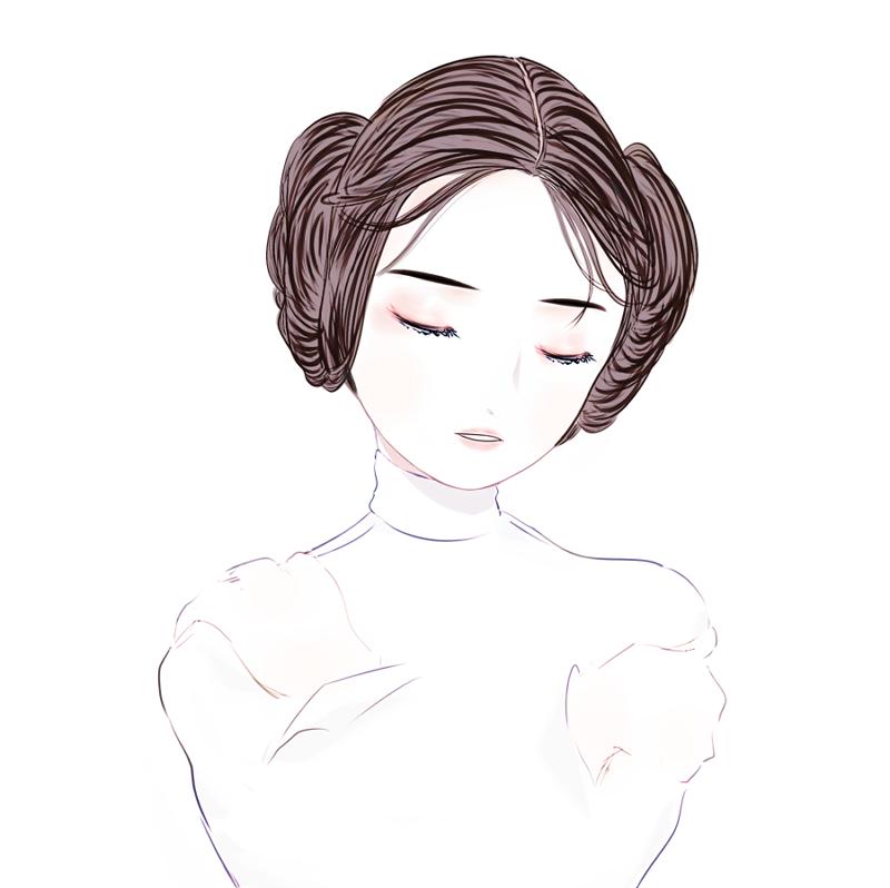 800x798 Women Of Star Wars Vxrbxl Good Night, Princess Leia