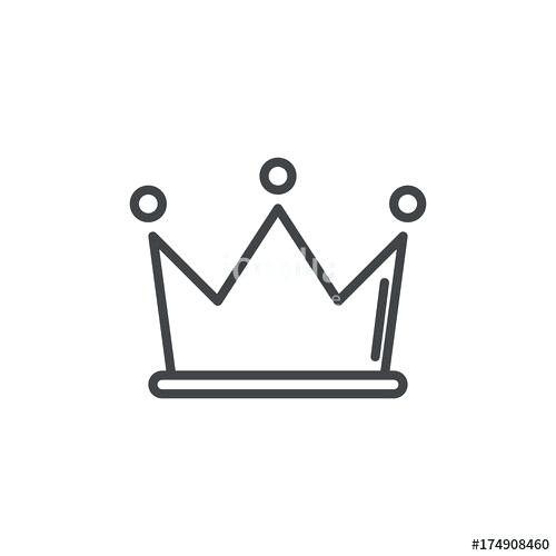 500x500 Crown Outline Clip Art D Simple Tattoo Designs Drawing