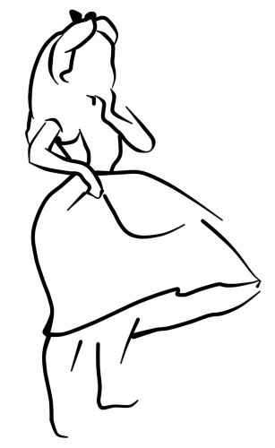 307x500 Alice Outline Tattoo Could Be Done W Vibrant Colors, Potentially