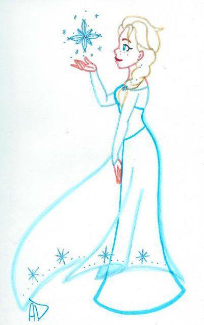 400x637 Outline Of Elsa