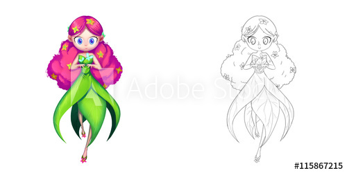 500x250 Princess The Morning Glory Flower Fairy, Butterfly Princess