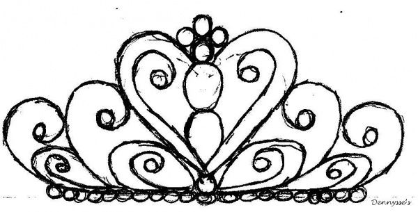 600x305 royal icing tiara template drawing tiara tattoo