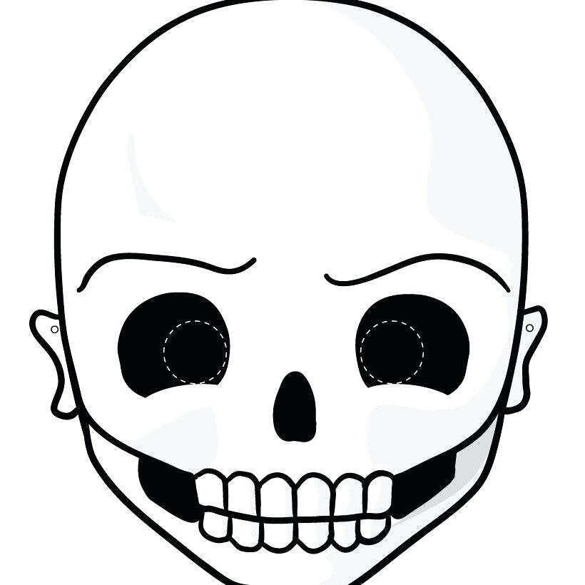 820x820 paper masks printable a skull mask halloween paper masks printable