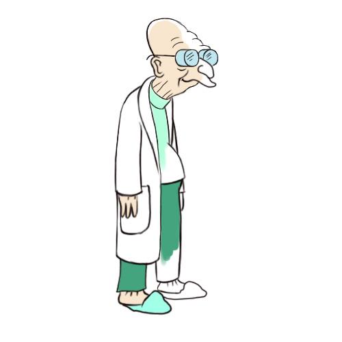 500x500 How To Draw Professor Farnsworth Steps