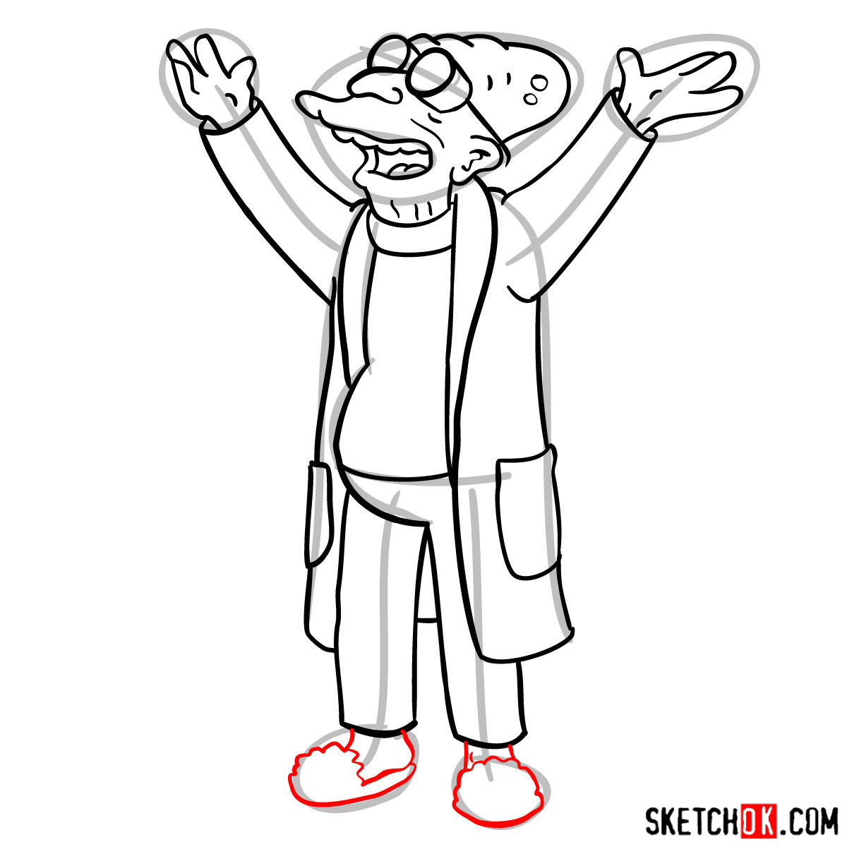 1200x1200 How To Draw Professor Farnsworth