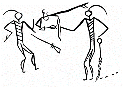 422x300 Narrative Drawing Of The Crow Indians