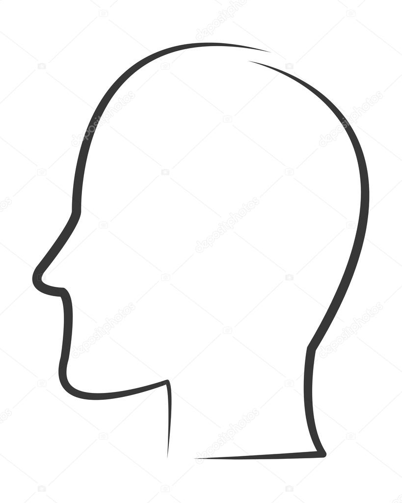 819x1024 Profile Drawing Outline For Free Download