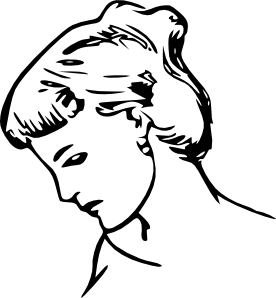 276x298 Female Profile Drawing Clip Art