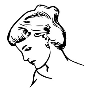 300x300 female profile drawing clipart, cliparts of female profile drawing