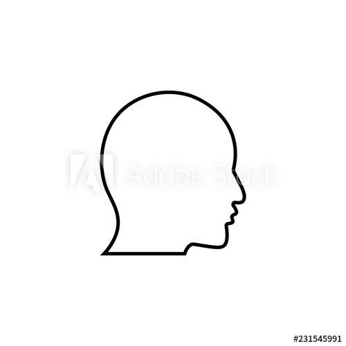 500x500 User Linear Icon Human Head Thin Line Illustration Profile