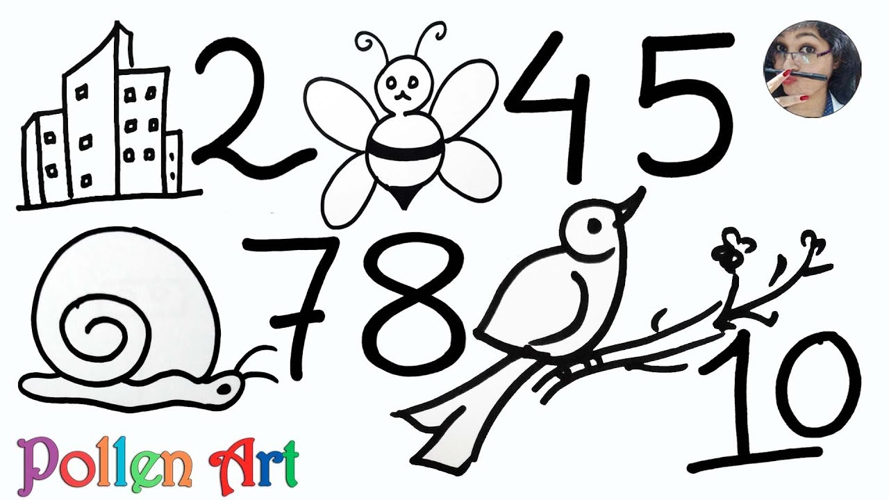 1280x720 How To Draw Anything From Numbers Easy Drawing For Kids