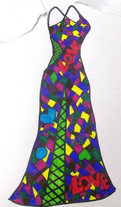 409x700 Prom Dress Drawings
